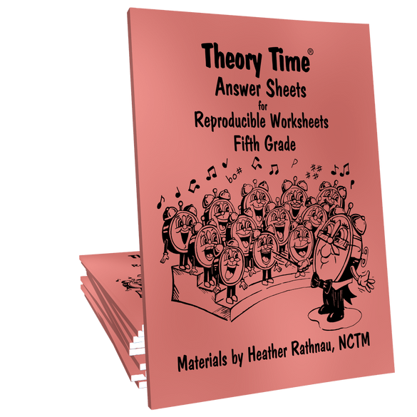 Theory Time Reproducible Series Fifth Grade Pack