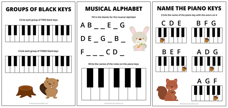 3 Free Music Theory Worksheets