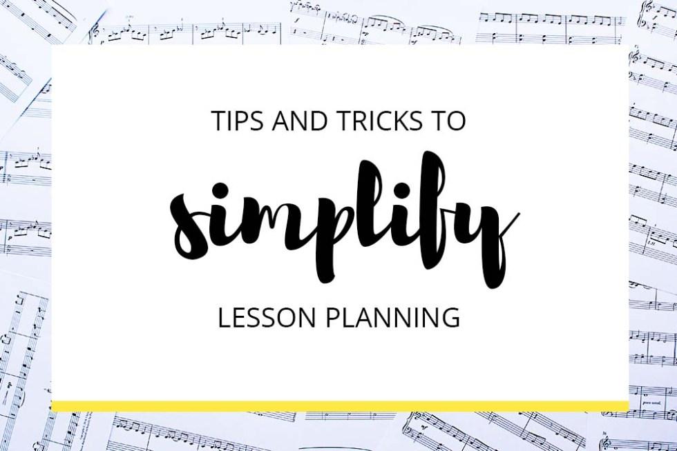 Simplify Lesson Planning