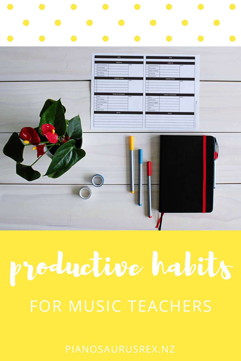 7 Habits For Super Productive Music Teachers