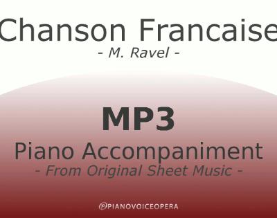 PianoVoiceOpera Chanson Francaise Piano Accompaniment