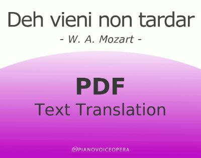Deh vieni non tardar Text Translation