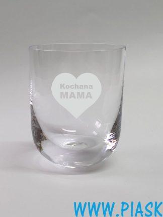 szklanka okrągła grawer Kochana Mama