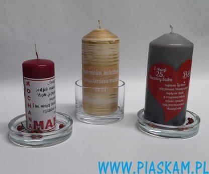 świeczki z dowolnym nadrukiem