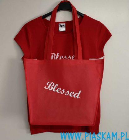 torba koszulka czerwona blessed