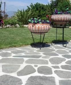 Piatra poligonala ardezie gri-palet de 35 mp