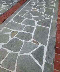 Piatra poligonala ardezie gri