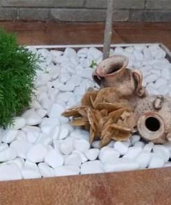 Pebble marmura alba Thasoss-sac de 45 kg