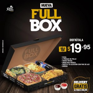 Ordenar Online Full Box Piatto Pizza Delivery en Cuenca Ecuador