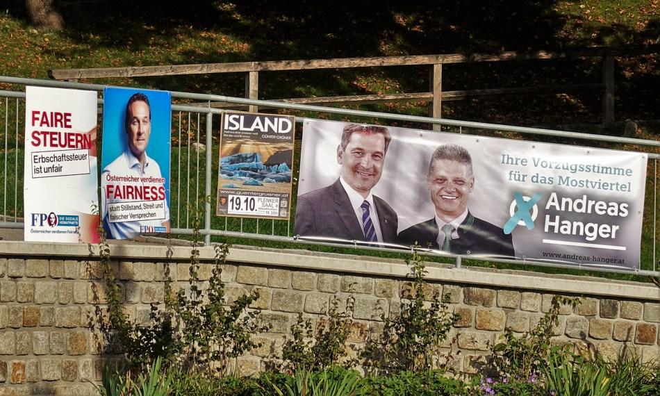 Wahlplakate nahe Waidhofen 2017