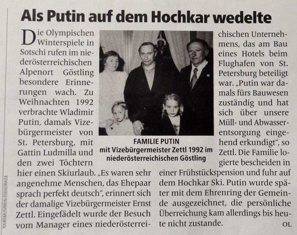 Putin Profil Göstling 17.2.2014