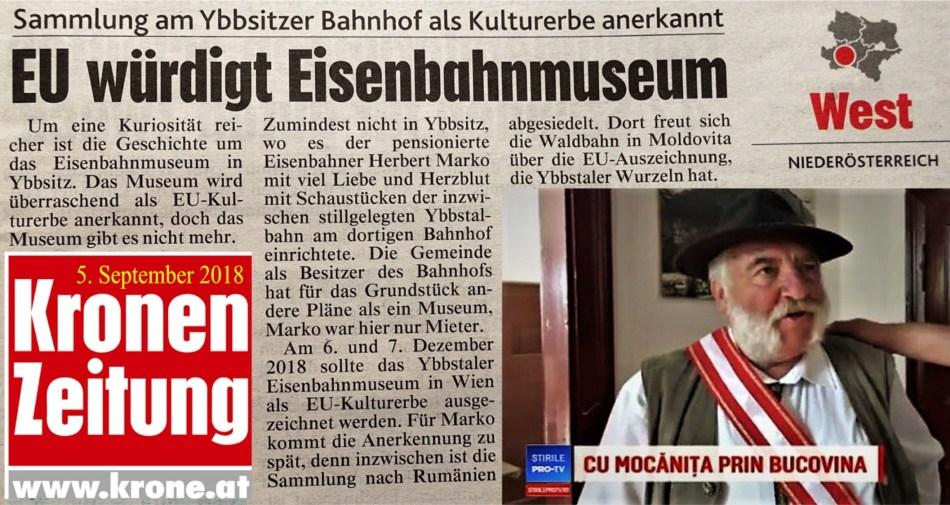 Krone 5.9.2018 Rumänien Museum