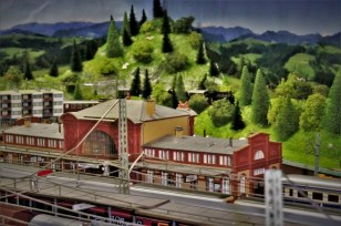 Hintergrund Bahnhof