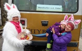 Österhase Citybahn mit kind