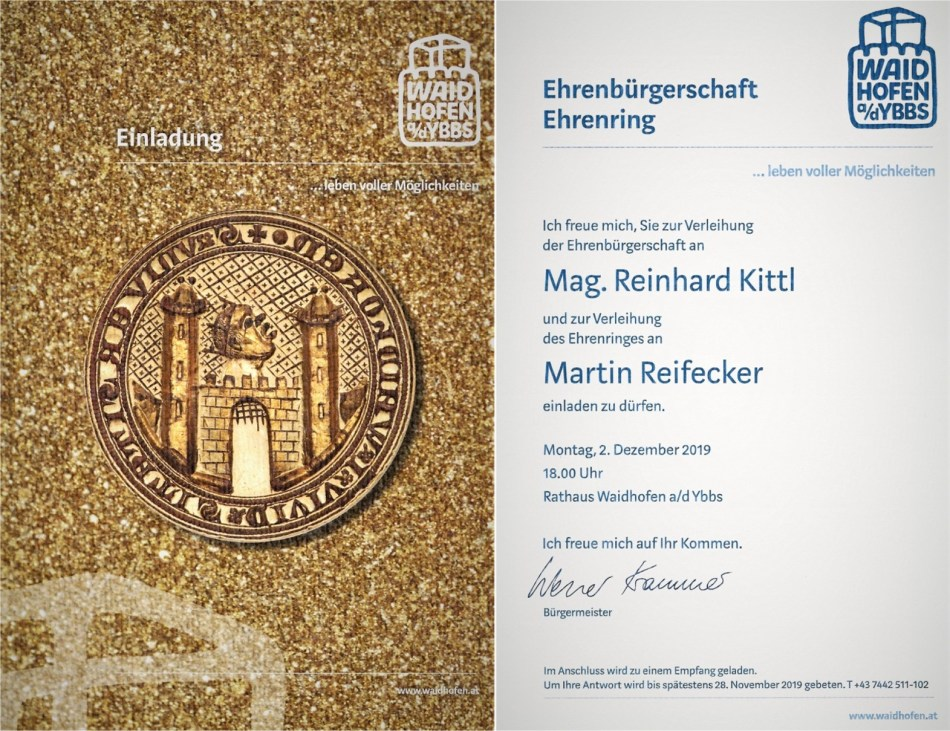 Kittl Ehrenbürger Einladung