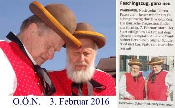 O.Ö.N. Faschingszug 3.2.2016 neu