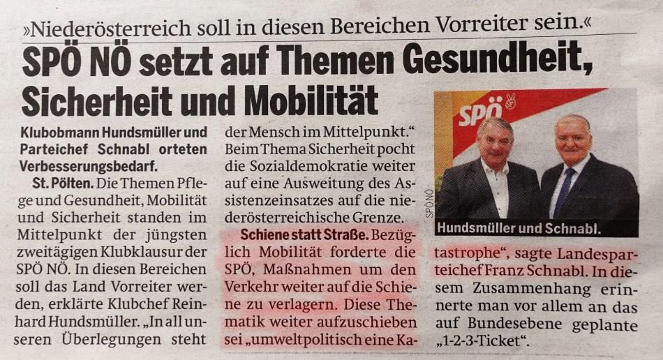 Österreich Schnabl 10.3.2020 mark