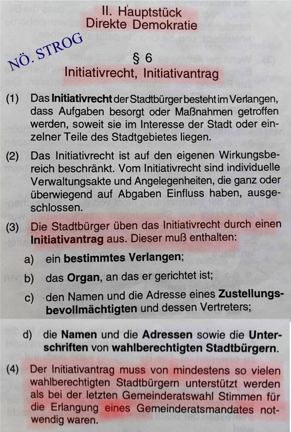 Stadtrecht Initiativantrag