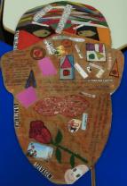 Produção de estudante de EB a partir dao material pibidiano Auto-retratos: ilustrações do eu.