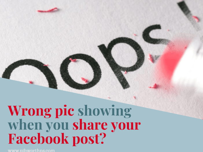 Wrong pic showing when you share your Facebook post?