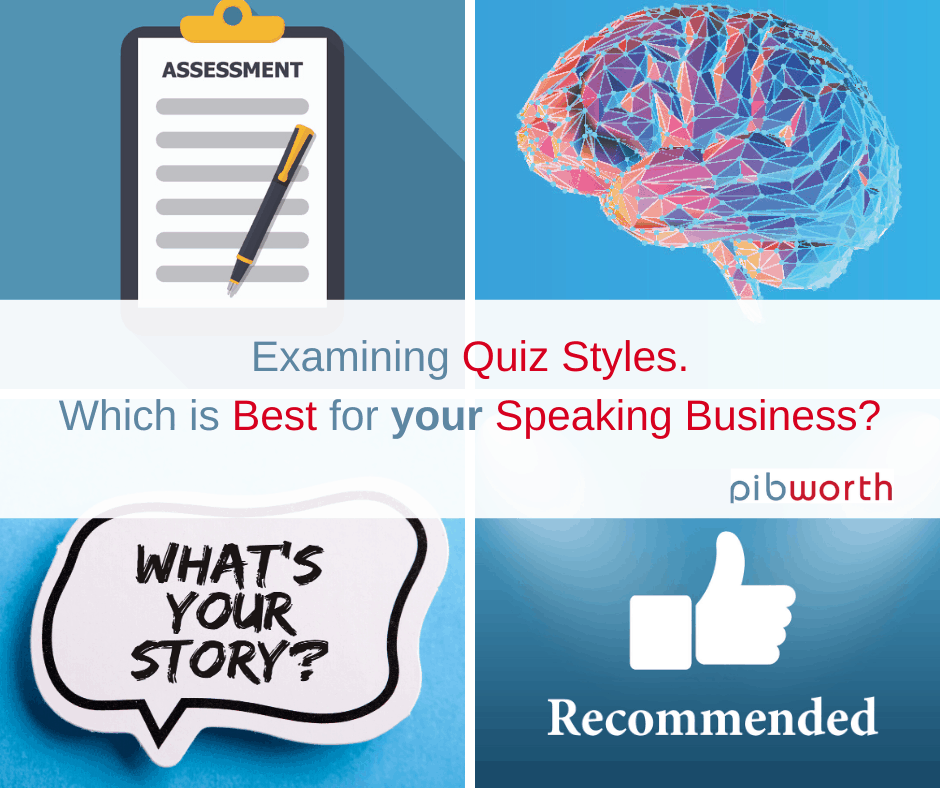 What quiz style should I use for my speaking business
