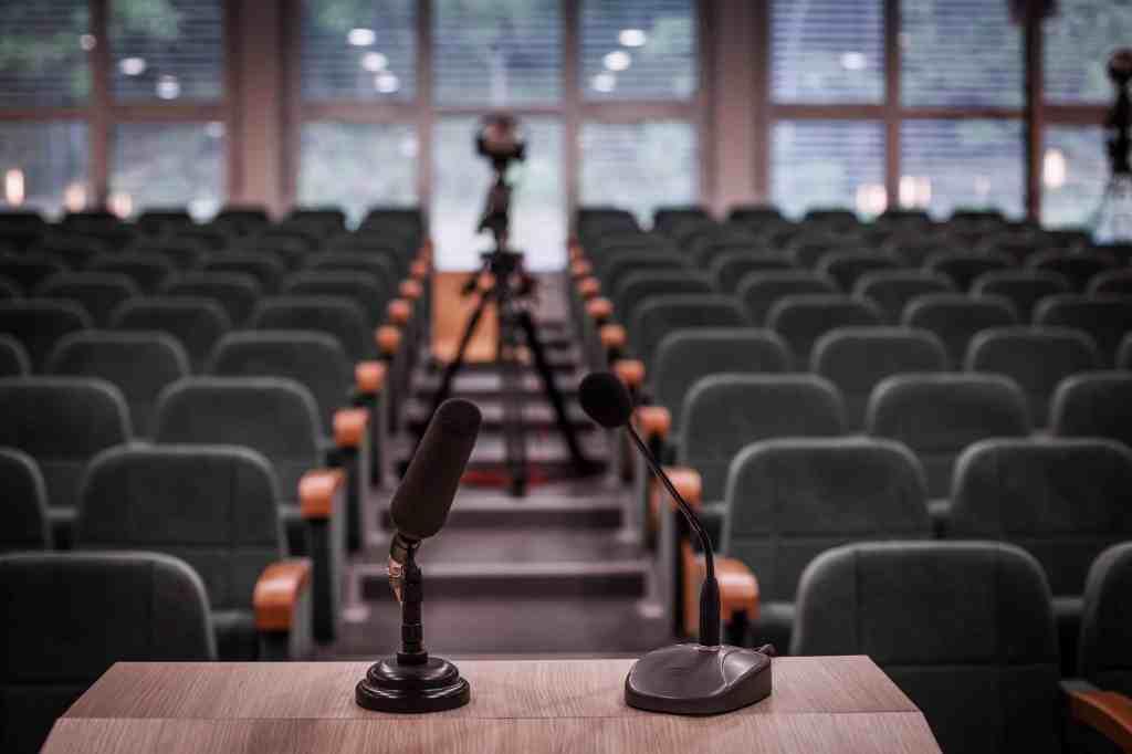 Empty conference room. Emerging speakers roadblocks.