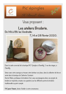 cours broderie