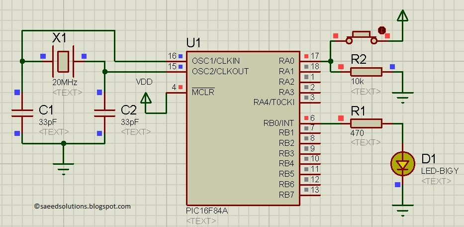 How To Use PIC16F84A Pin As Input (Code+Proteus Simulation