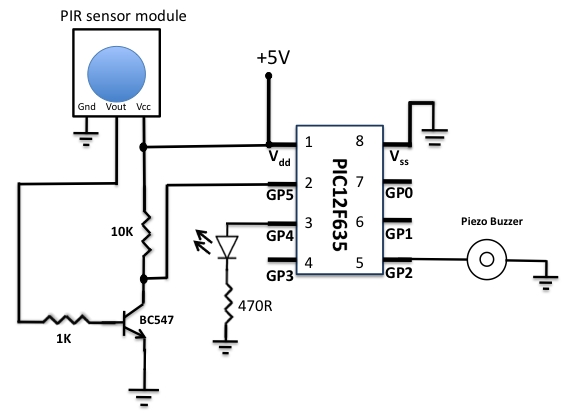 MOTION SENSOR USING PIR SENSOR MODULE WITH PIC MICROCONTROLLER AND WITHOUT MICROCONTROLLER Schematic occupancy sensor wiring diagram efcaviation com occupancy sensor switch wiring diagram at readyjetset.co