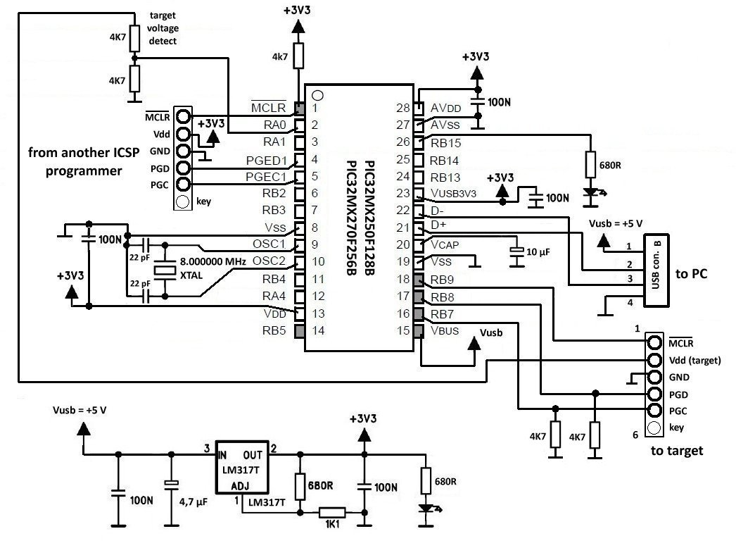J Icsp Programmer For Pic32 Microcontroller Family
