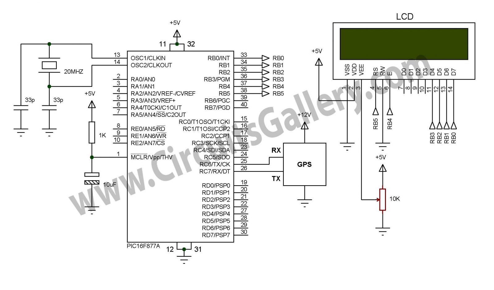 Simple Digital Gps Speedometer Using Pic16f877a With Lcd Display