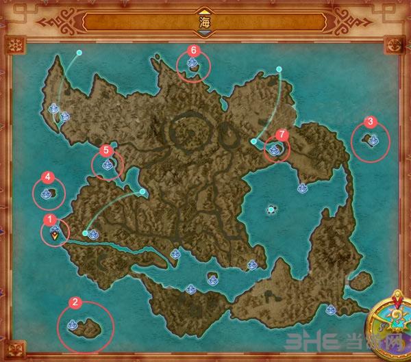 勇者斗惡龍11大海地圖 DQ11所有島嶼位置一覽_當游網