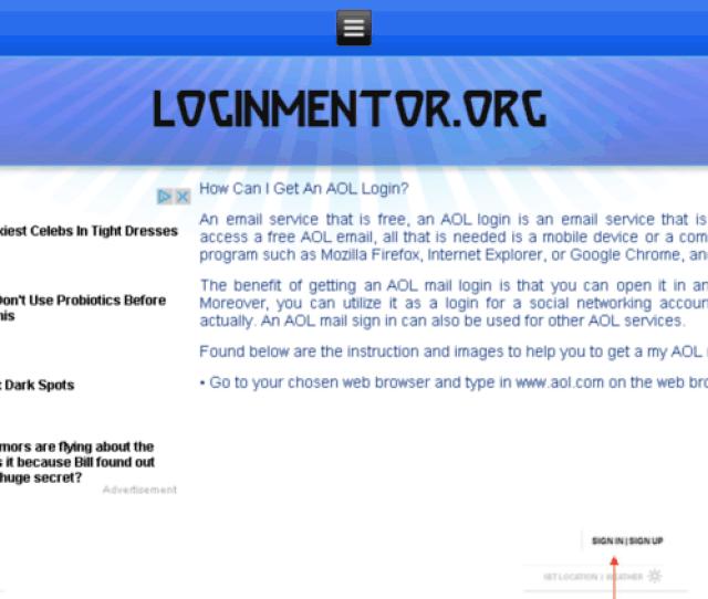 Aol Loginssupport Org Screenshot
