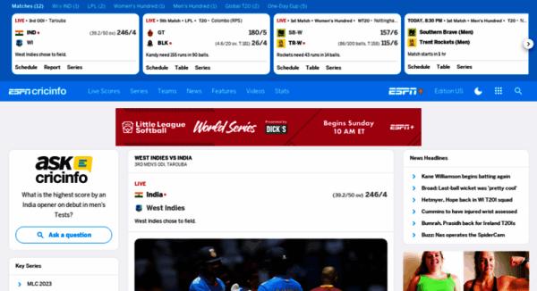 Access espncricinfo.com. Check Live Cricket Scores, Match ...