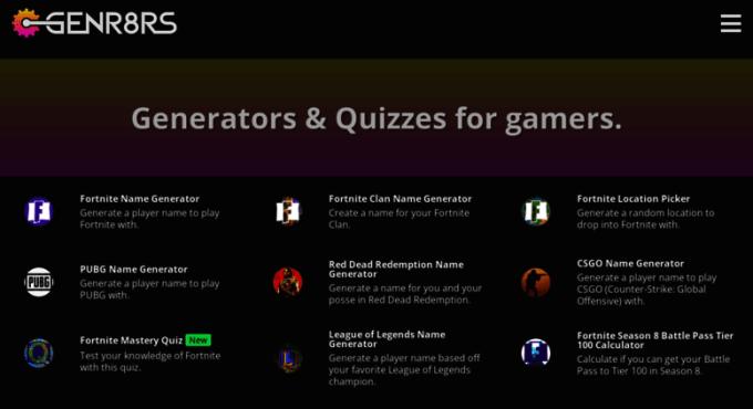 Gaming Clan Name Generator Fortnite | Games World