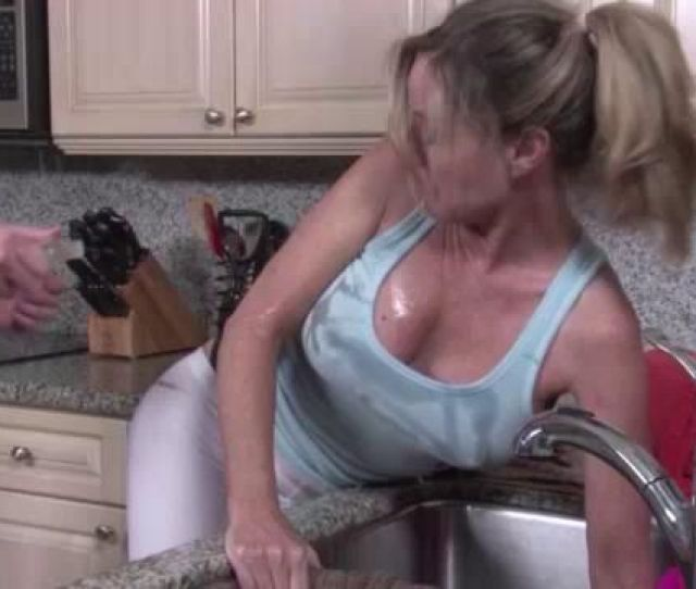 Jodi West Gets Her Arm Caught In The Sink