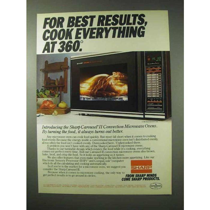 1984 sharp carousel ii convection microwave oven ad on ebid new zealand 159317745