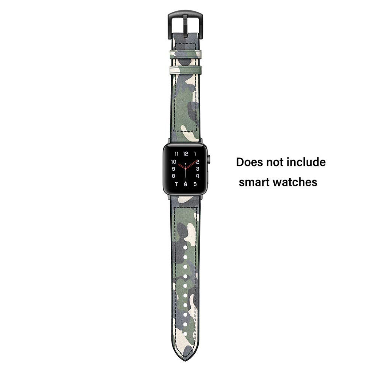 Hybrid Leather Silicone Sweatproof Watch Band Straps For