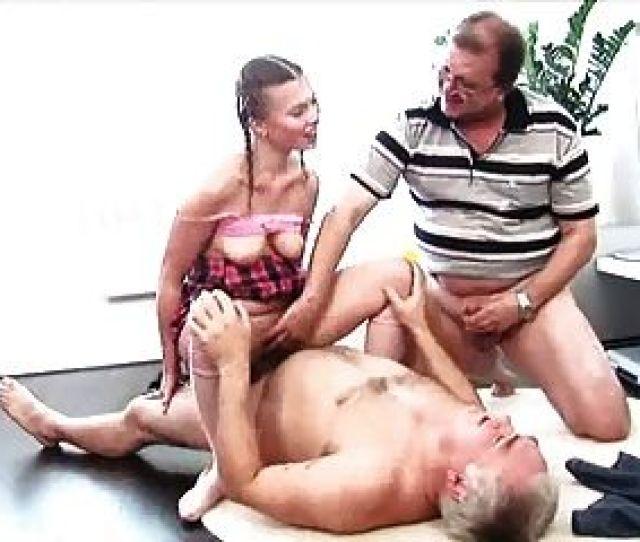 Two Old Men Fuck Young Slut
