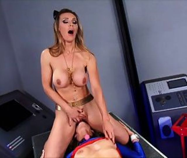 British Slut Tanya In A Superhero Lesbian Scene