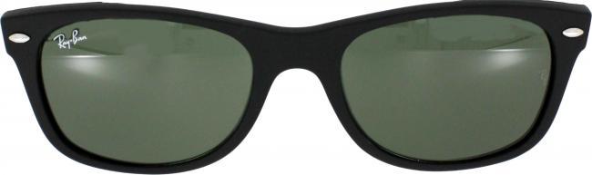 ray ban sonnenbrille new wayfarer rb 2132 622 gr 55 in der farbe black rubber schwarz gummiert