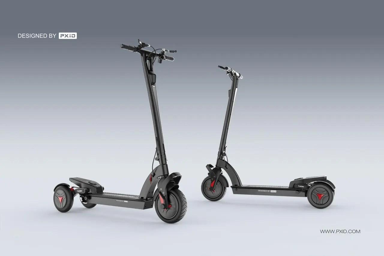 電動三輪滑板車設計_pxid2013作品_作品_直線網