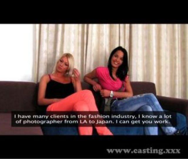 Casting Two Girls Make Me Cum Quick