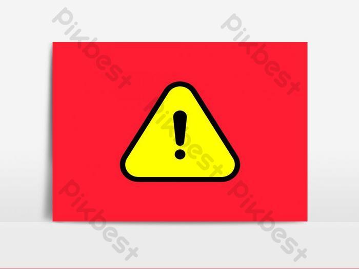 危險警告標誌標誌矢量圖形元素  EPS 元素素材免費下載 - Pikbest