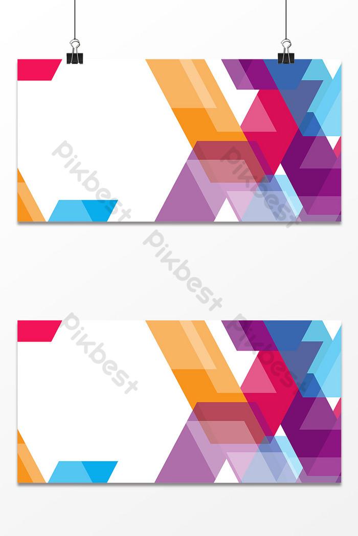 彩色幾何拼貼校園商務背景  AI 背景素材免費下載 - Pikbest
