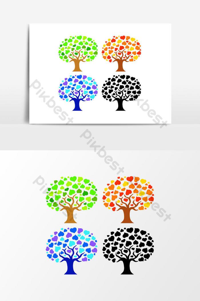 各種樹木剪影  EPS 元素素材免費下載 - Pikbest