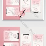Pink And White Contrast Color Female Restaurant Afternoon Tea Menu Mockup Psd Free Download Pikbest