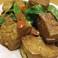 三杯豆腐-葷食辛香-素食也很下飯