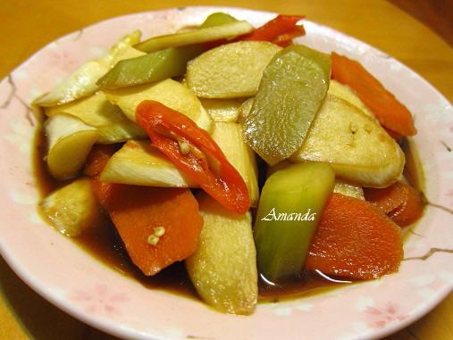 素滷根莖蔬菜