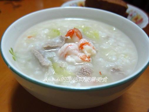 蔬菜蝦仁粥